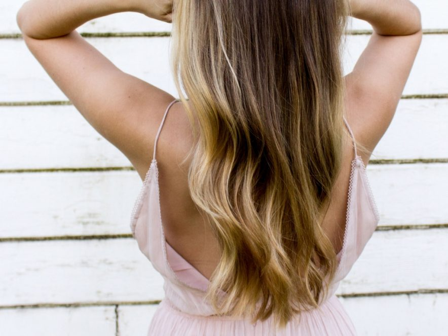 A salon-quality blow dry created at home
