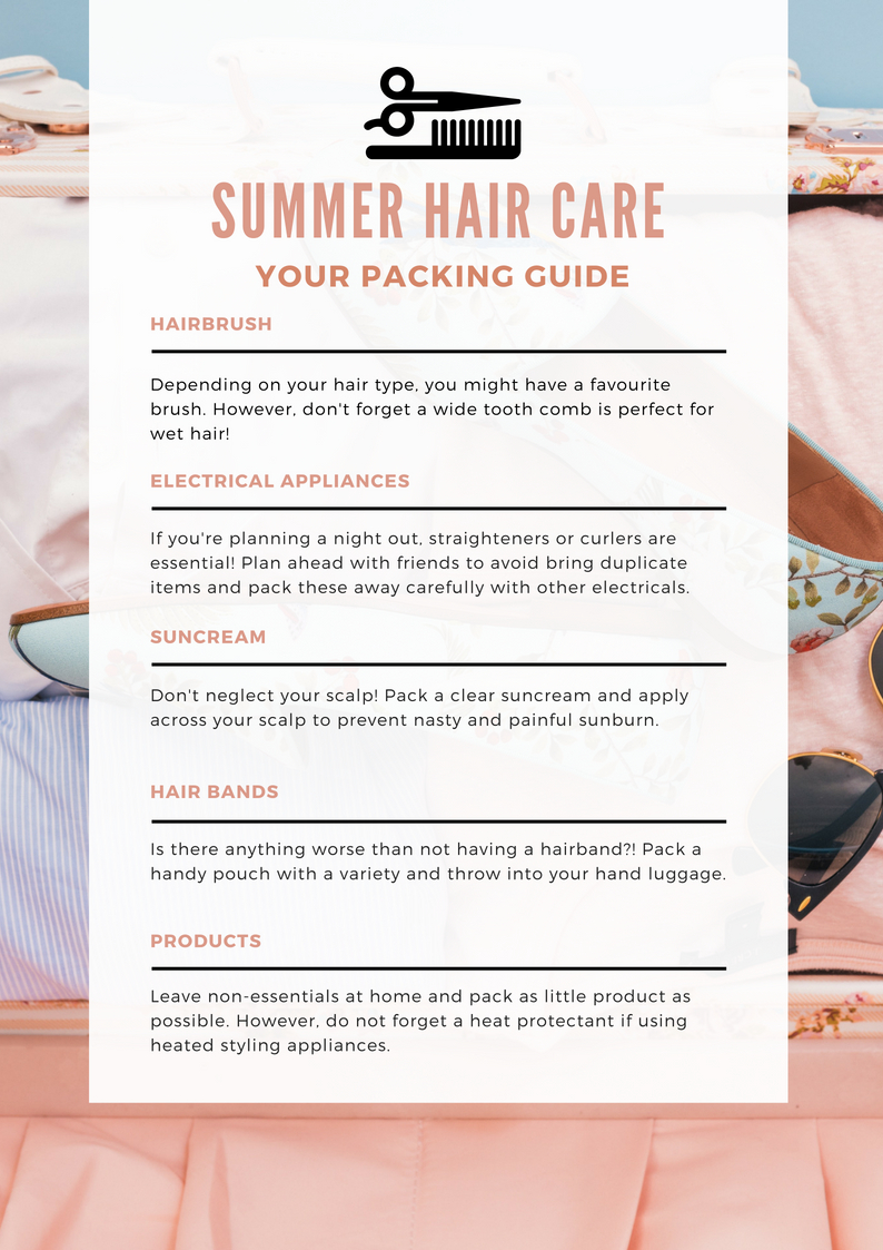 Fortynine and Fifth hair care infographic